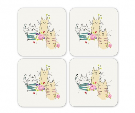 Set 4 coastere Top Cats