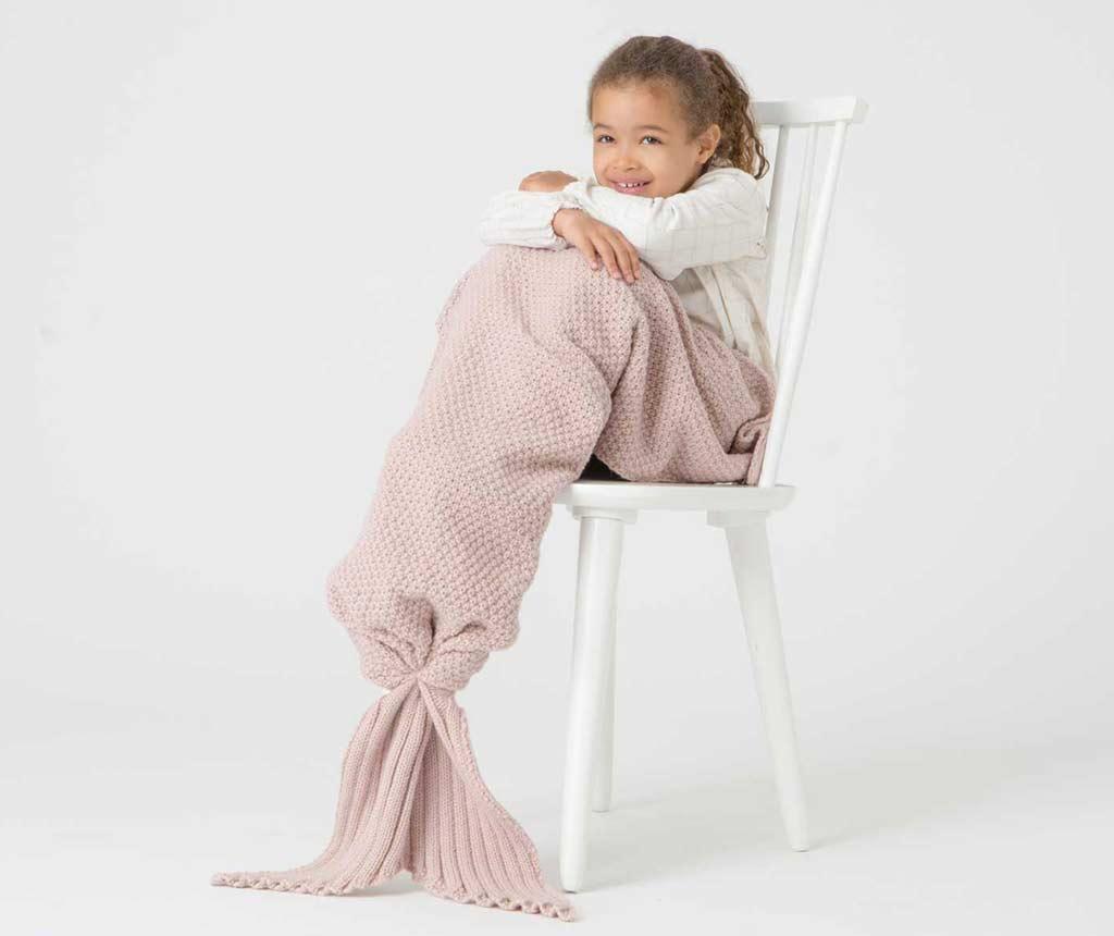 Pled Mermaid Pink 33x105 cm