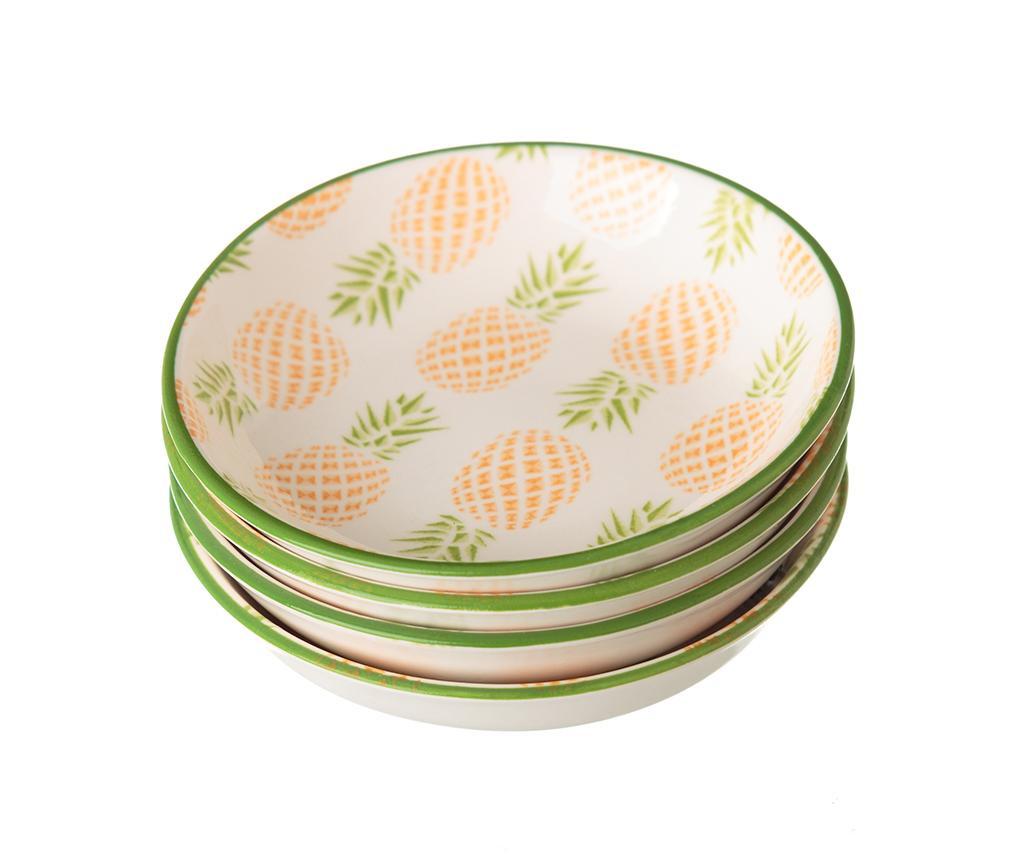 Sada 4 tanierikov Pineapple Green