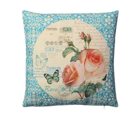 Perna decorativa Blue Butterfly 45x45 cm