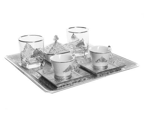 Riza Silver 9 darabos Kávéskészlet