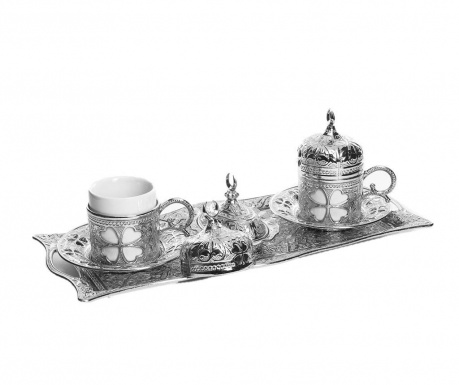 Сервиз за кафе 9 части Salil Silver