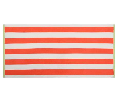 Ręcznik do stóp Orange and White Stripes 70x155 cm