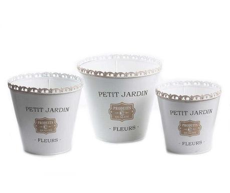 Set 3 ghivece Petit Jardin Frill Round