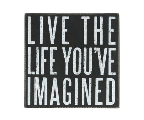 Decoratiune de perete Live The Life