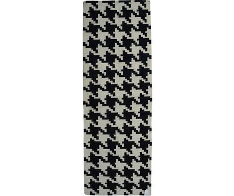 Covor Kilim Resolution Black 76x244 cm