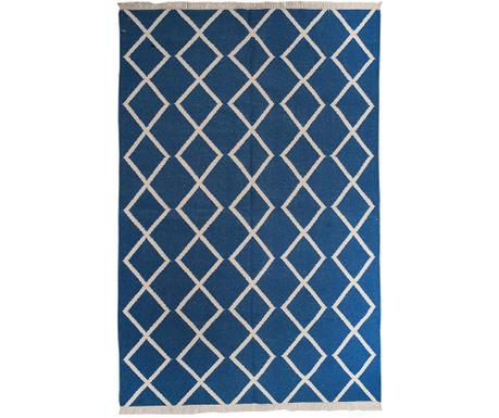 Covor Kilim Sakiya Blue Fringe 152x244 cm