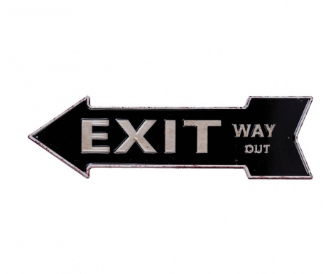 Decoratiune de perete Exit Way