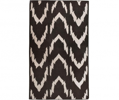 Kilim Waves Black téglavörös 152x244 cm