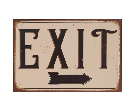 Decoratiune de perete Exit Arrow