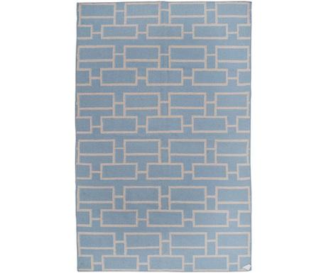 Covor Kilim Bricks Blue 152x244 cm