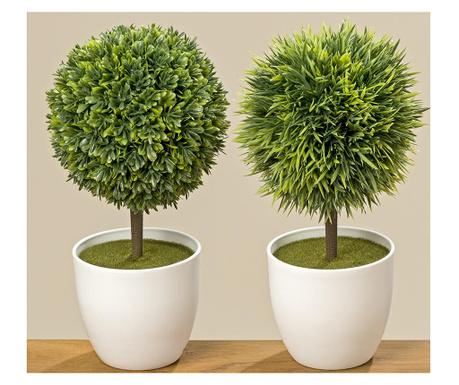 Zestaw 2 sztucznych roślin w doniczce Histon