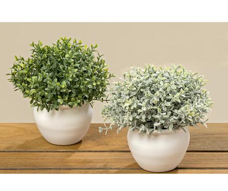 Zestaw 2 sztucznych roślin w doniczce Mystery