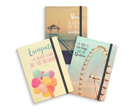 Set 3 carnetele pentru notite World