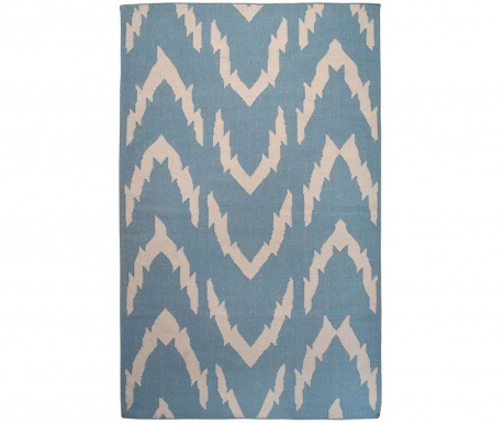 Covor Kilim Waves Blue 152x244 cm