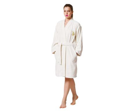 Дамски халат за баня Upsa Ecru
