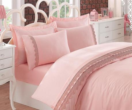 Lenjerie de pat King Satin Supreme Caren Pink