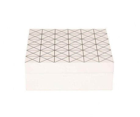 Кутия с капак Plus White & Black