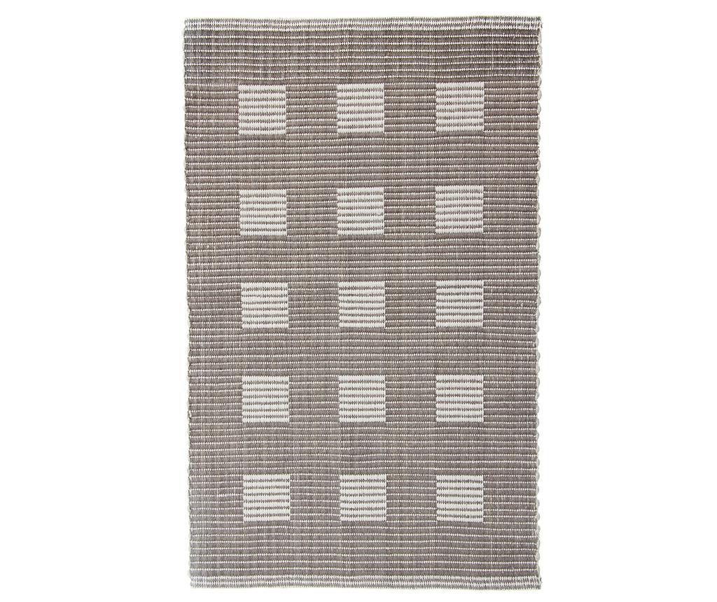 Covoras de baie Ribbed Squares Beige 50x80 cm