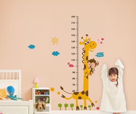 Sticker pentru masurat inaltime copii La Giraffe