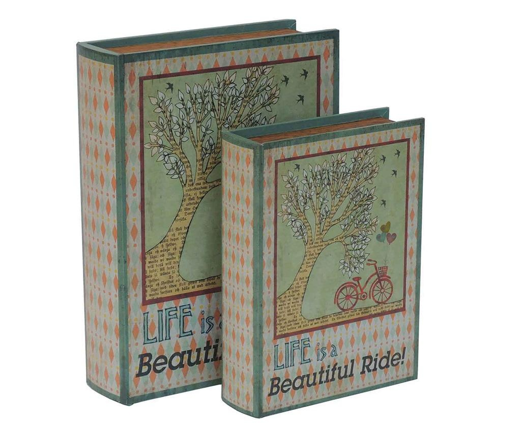 Set 2 kutije tipa knjige Beautiful Ride