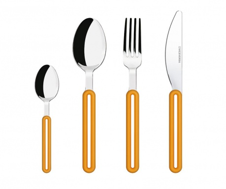 Set tacamuri 4 piese Offset Orange