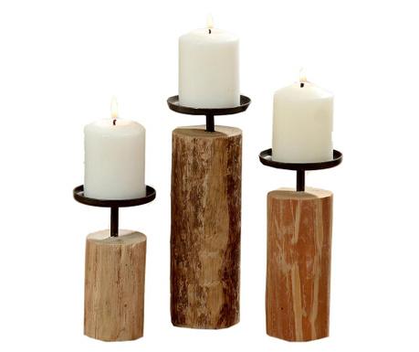 Set 3 svečnikov Tempe