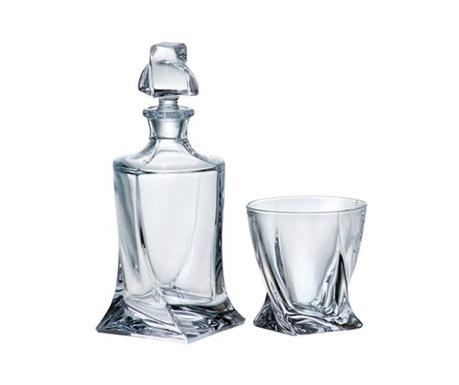 Glory Crystalite Whiskys palack és 6 db pohár