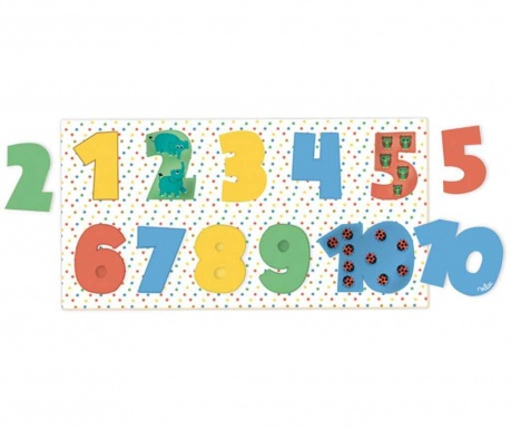 Hra typu puzzle, 10 dílů Numbers
