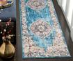 Aimee Blue and Light Grey Szőnyeg 68x243 cm
