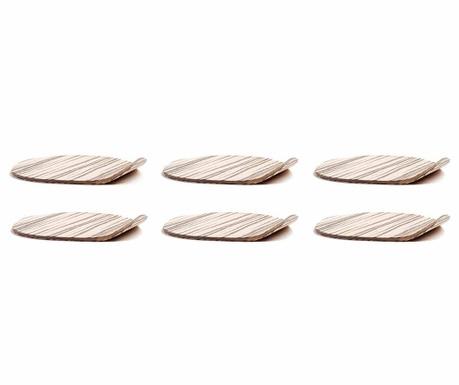 Set 6 podmetača za čaše Ameba Zebrano
