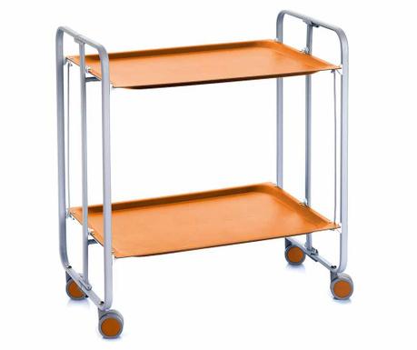 Sklopiva kolica za posluživanje Matte Orange