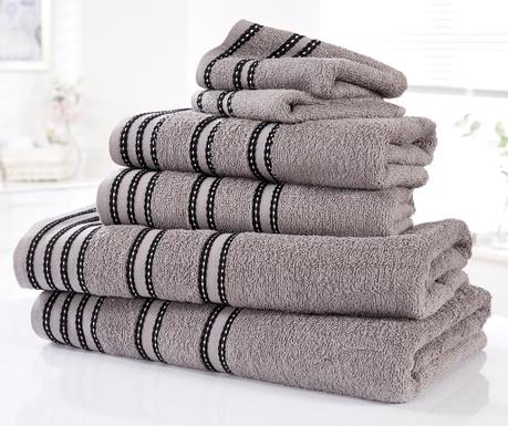 Sada 6 ručníků Sirocco Charcoal
