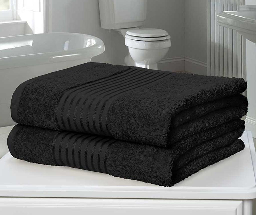Set 2 kopalniških brisač Windsor Black 90x140 cm
