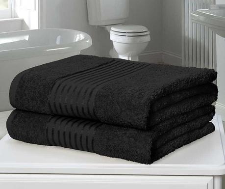 Windsor Black 2 db Fürdőszobai törölköző 90x140 cm