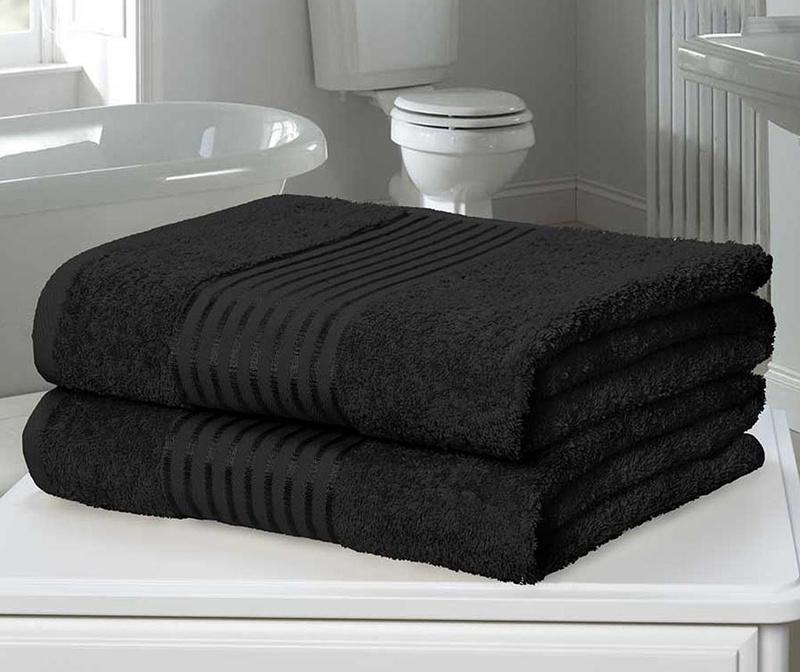 Sada 2 ručníků Windsor Black 90x140 cm