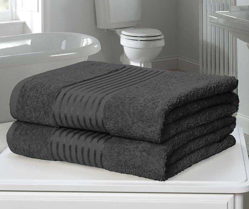 Windsor Grey 2 db Fürdőszobai törölköző 90x140 cm