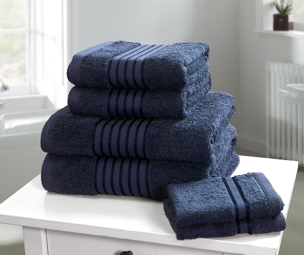 Set 6 prosoape de baie Windsor Denim