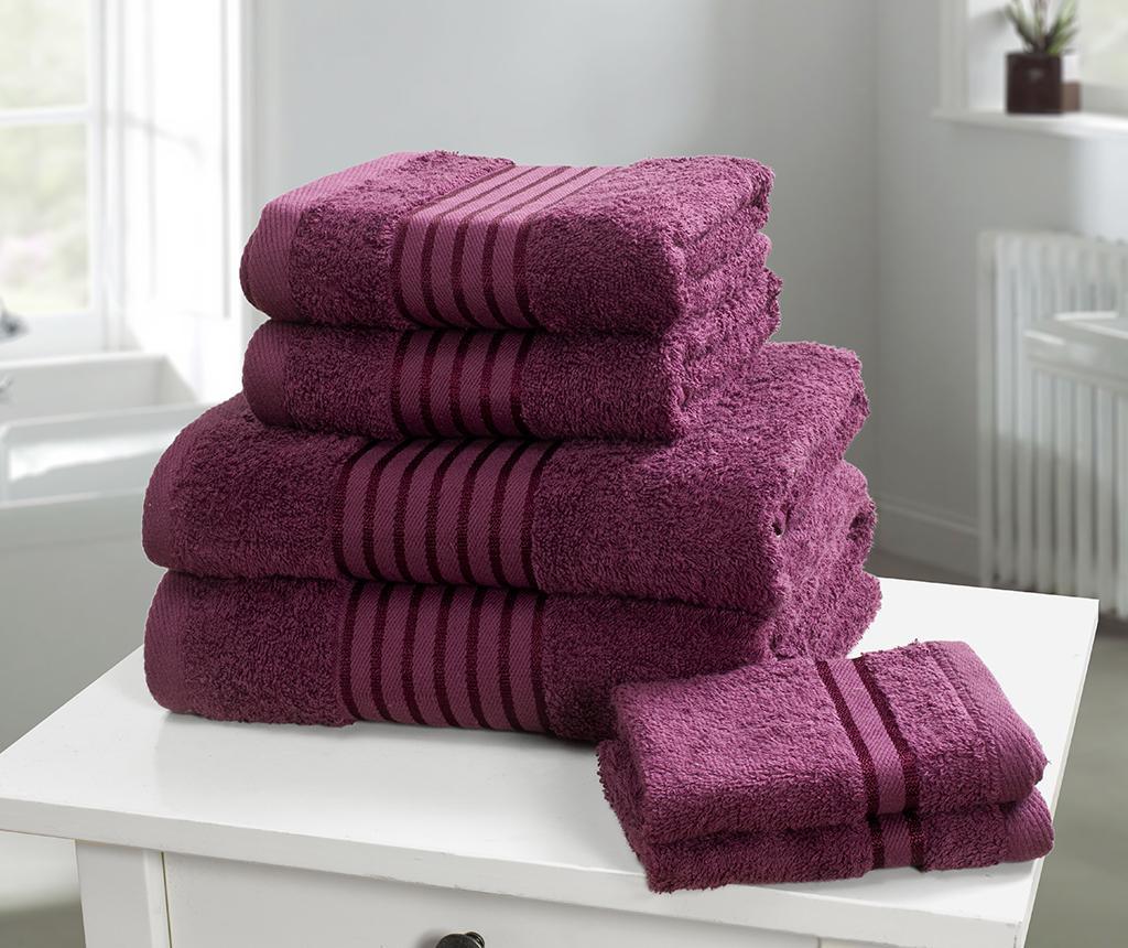 Set 6 kupaonskih ručnika Windsor Plum