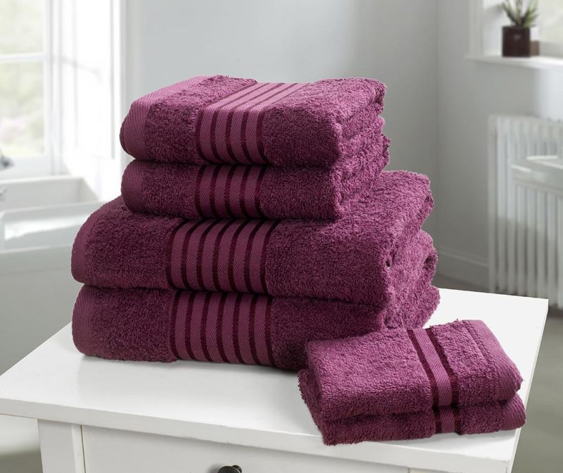 Set 6 prosoape de baie Windsor Plum