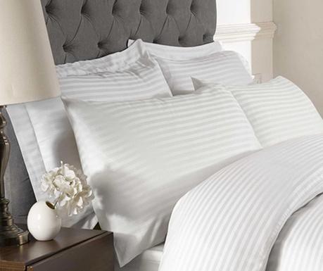 Prevleka za vzglavnik Brighton Hill Premium White Oxford 50x75 cm