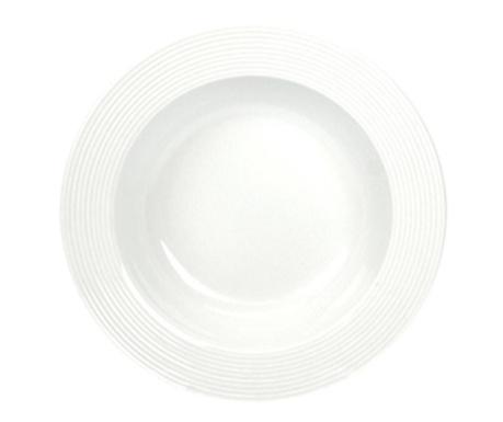 Linea White Tésztás tányér
