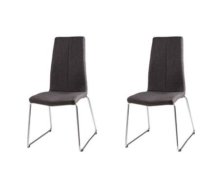 Set 2 scaune Aroa Dark Grey