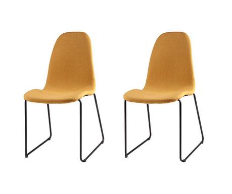 Set 2 scaune Helena Yellow