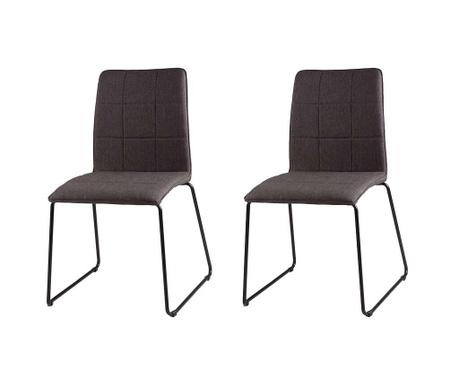 Set 2 scaune Malina Dark Grey