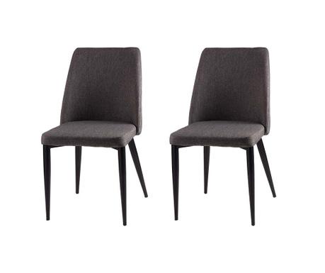 Set 2 scaune Melissa Dark Grey