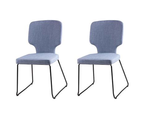 Set 2 scaune Dana Light Blue