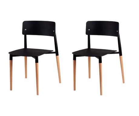 Set 2 scaune Claire Black