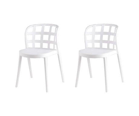 Set 2 scaune Ginnie White