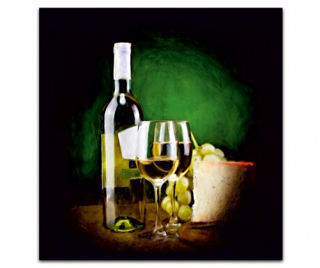Tablou Classy Wine 30x30 cm